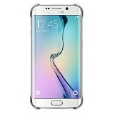 SAMSUNG Galaxy S6 EDGE Clear Cover Case - Silver - Casing Handphone / Case