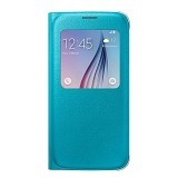 SAMSUNG Galaxy S6 S-View Flip Cover Case - Blue - Casing Handphone / Case