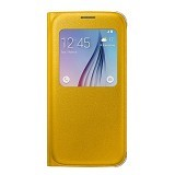 SAMSUNG Galaxy S6 S-View Flip Cover Case - Yellow - Casing Handphone / Case