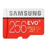 SAMSUNG MicroSDXC EVO Plus Class 10 UHS-1 256GB with SD Adapter (Merchant) - Micro Secure Digital / Micro Sd Card