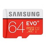 SAMSUNG MicroSDXC EVO Plus Class 10 UHS-1 with SD Adapter 64gb (Merchant) - Micro Secure Digital / Micro Sd Card