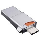 SAMSUNG OTG 3in1 Evo 32GB - Silver (Merchant) - Usb Flash Disk Dual Drive / Otg
