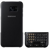 SAMSUNG QWERTY Keyboard Cover Case for Galaxy S7 Edge - Black - Casing Handphone / Case