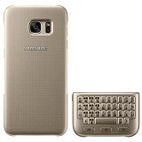 SAMSUNG QWERTY Keyboard Cover Case for Galaxy S7 Edge - Gold