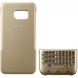 SAMSUNG QWERTY Keyboard Cover Case for Galaxy S7 - Gold - Casing Handphone / Case