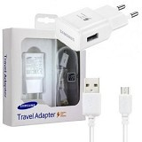 SAMSUNG Travel Adapter Fast Charging Micro USB - White (Merchant) - Charger Handphone