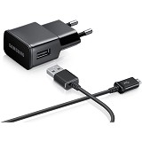 SAMSUNG Travel Charger Galaxy S4 / Tab 3 10W Adapter + Micro USB Cable - Black (Merchant) - Charger Handphone