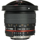 SAMYANG 8mm F/3.5 HD Fisheye Lens with AE Chip and Removable Hood For Nikon (Merchant) - Camera Slr Lens