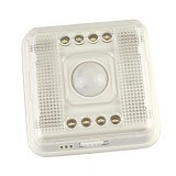 SAN TECH Lamp PIR Auto Sensor Motion Detector Light 8 LED [L0803SER] - White (Merchant) - Lampu Meja