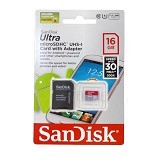 SANDISK Micro SDHC 16GB Class 10 with Adaptor (Merchant) - Micro Secure Digital / Micro SD Card