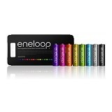 SANYO Eneloop Battery AA Glitter 8Pcs 2000mAh - Battery and Rechargeable
