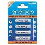 SANYO Eneloop Battery AAA 4Pcs 800mAh - Battery and Rechargeable