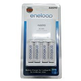 SANYO Eneloop Charger + 4 Eneloop Battery - Battery and Rechargeable