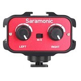 SARAMONIC Audio Adapter for DSLR [SR-AX100] (Merchant) - Camera and Video Microphone
