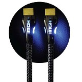 SAROWIN Premium A to A HDMI Cable with Blue Led 1 Meter - Cable / Connector Hdmi