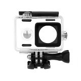 SATOO Waterproof Housing For Xiaomi Yi Action Camera (Merchant) - Camcorder Lens Cap and Housing Protection