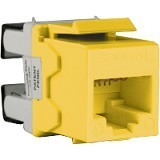 SCHNEIDER ELECTRIC Category 5e UTP Keystone Modular Jack [DCEKYSTUYL] - Yellow - Modular Jack