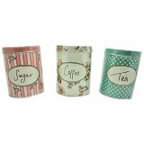 SCOOP PRODUCTS Tea, Coffee and Sugar Tin Set (V) - Tempat Bumbu