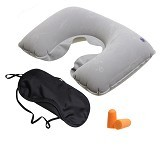 SDS Inflatable Travel Pillow - Grey - Bantal Dekorasi