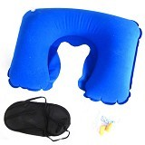 SDS Inflatable Travel Pillow - Light Blue