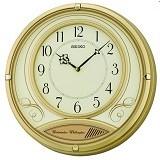 SEIKO Souvenir Online Jam Dinding Dual Chimes 36 cm [QXD213G] - Gold - Jam Dinding