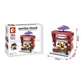 SEMBO SD6011 Ice Cream Shop [305002488] (Merchant) - Building Set Architecture