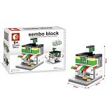 SEMBO SD6604 Convenience Store Small [305002803] (Merchant) - Building Set Architecture