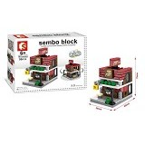 SEMBO SD6605 Pizza Store Small [305002804] (Merchant) - Building Set Architecture