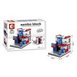 SEMBO SD6607 Pepsi Store Small [305002806] (Merchant) - Building Set Architecture