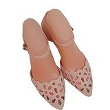SENDAL UNIK MURAH Floral Pointy Jelly Shoes Size 39 - Pastel - Wedges Wanita