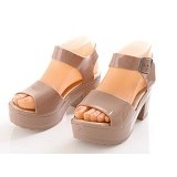 SENDAL UNIK MURAH Jelly Princess Shoes Size 38 - Beige - Wedges Wanita