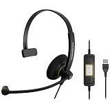 SENNHEISER Headset SC 30 USB ML - Headset Pc / Voip / Live Chat