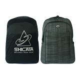 SHICATA Tas Ransel Laptop Raincoat [8-2982b] - Hitam (Merchant) - Notebook Backpack