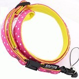 SHRUG DESIGN Neck Cell Phone Strap - Dot/Pink x Yellow [47-577126] - Gantungan Handphone