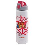 SHUMA S/S Vacuum Sport Bottle Gel 0.6L - Love Peace - Botol Minum