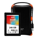 SILICON POWER S60 SSD 240GB with Upgrade Kit Armor A30 Case - SSD SATA 2.5 inch