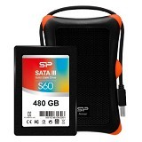 SILICON POWER S60 SSD Slim 480GB with Upgrade Kit Armor A30 Case
