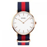 SKMEI Casual Men Colorful Army Strap Watch [1181C] - Blue Red (Merchant) - Jam Tangan Pria Casual