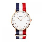 SKMEI Casual Men Colorful Army Strap Watch [1181C] - Blue White Red (Merchant) - Jam Tangan Pria Casual