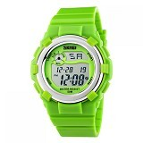 SKMEI Children Sport Silicone LED Watch [DG1161] - Green (Merchant) - Miniature Watch