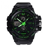 SKMEI S-Shock Sport Watch Water [AD0990] - Black Green (Merchant) - Jam Tangan Pria Sport