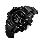 SKMEI Sport Watch Pedometer Heart Rate Tracking Water Resistant [DG1180S] - Black (Merchant) - Jam Tangan Pria Sport
