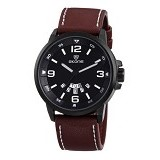 SKONE Casual Style Watch For Men [9345AG] - Brown - Jam Tangan Pria Casual