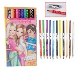 TOP MODEL Basic Coloured Pencil Set 12 Colours [TM 6667] - Pensil Warna