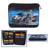 MyStyle Monster Cars Filled Pencil Case Flat [TM 6118] - Tempat Pensil