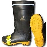 COUGAR Gumboot Black Size 44 - Safety Shoes / Sepatu Pengaman