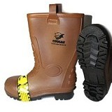 COUGAR Gumboot Brown Size 40 - Safety Shoes / Sepatu Pengaman