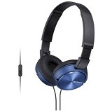 SONY Headphone [MDR ZX-310AP] - Blue - Headphone Portable