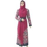 MISS SILVI Gamis Motif Batik All Size [3499] - Fushia - Gamis Wanita