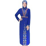 MISS SILVI Gamis Motif Batik All Size [1535] - Blue
